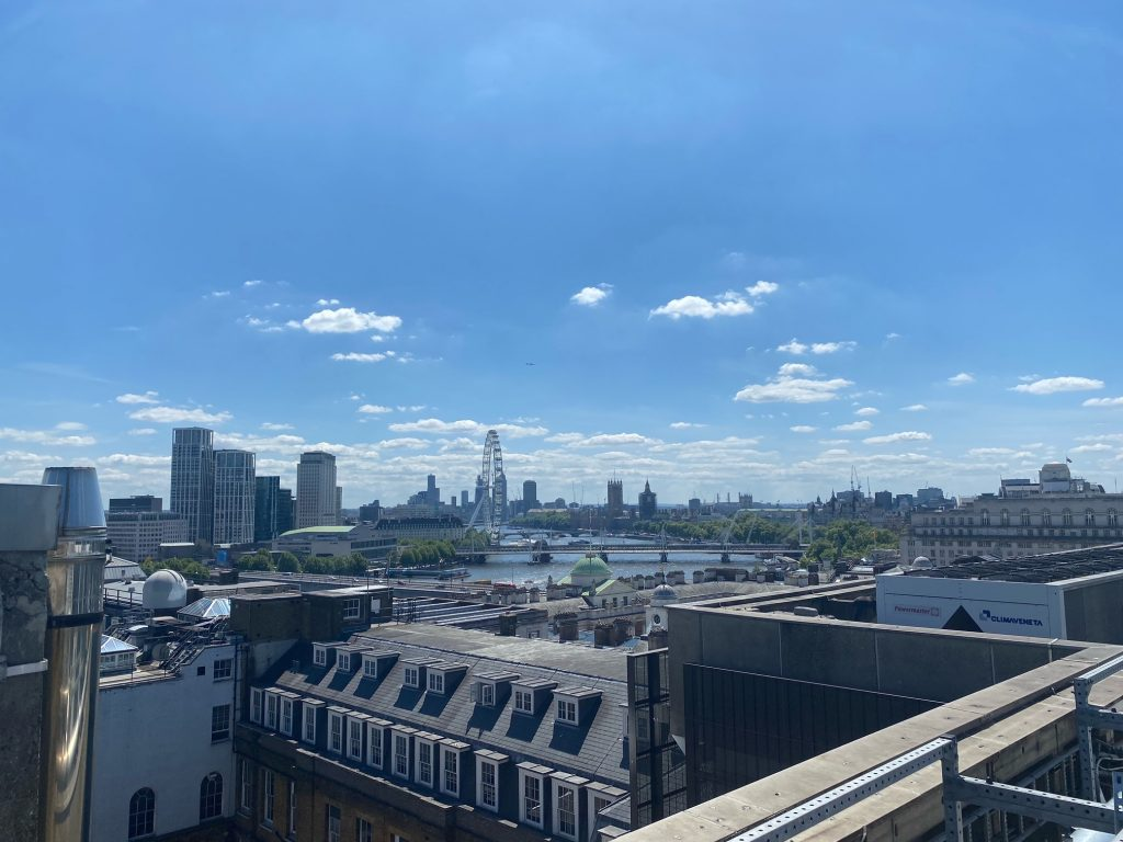 London roof view